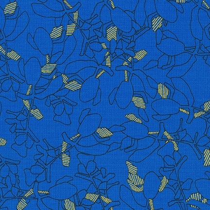 Carolyn Friedlander -CF Collection Flora in Royal  METALLIC