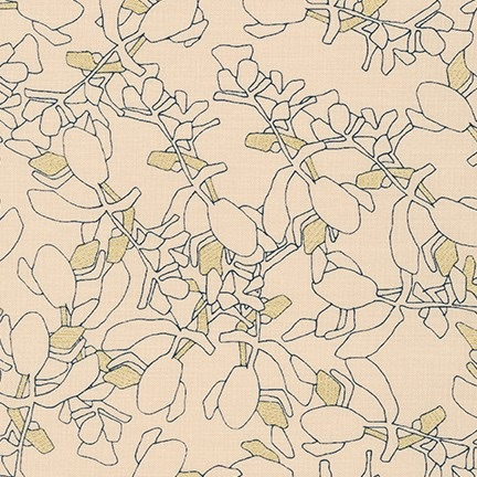 Carolyn Friedlander -CF Collection Flora in Linderie  METALLIC