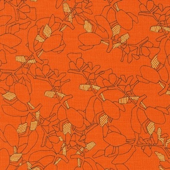 Carolyn Friedlander -CF Collection Flora in Orangeade  METALLIC