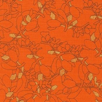 Carolyn Friedlander -CF Collection Flora in Orangeade  METALLIC