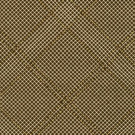 Carolyn Friedlander -CF Collection Tartan border in Brown Metallic