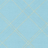 Carolyn Friedlander -CF Collection Tartan border in Dusty blue Metallic