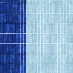 Carolyn Friedlander -JETTY- Wall tile singer border in blueprint