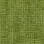 Carolyn Friedlander -JETTY- Metallic Grid Silver border in Ivy
