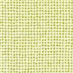 Carolyn Friedlander -JETTY- Metallic Grid Silver border in meringue