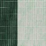 Carolyn Friedlander -JETTY- Wall tile singer border in green