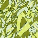 Carolyn Friedlander -JETTY- tree shadow in green