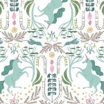 Dear Stella / Rae Ritchie Mythical Unicorn toile on white