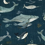 Katherine Quinn Whales tales story on Sea blue