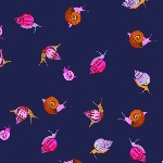 Heather Ross 20th Anniversary snails on purple