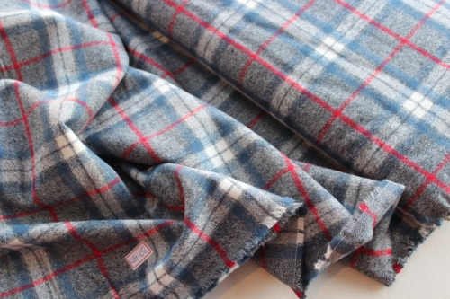 Robert Kaufman Mammoth Flannel -Dust and SMOKE