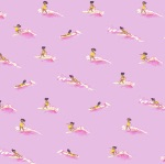 Heather Ross Malibu -Tiny Surfers in pink