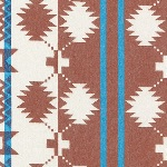 Robert Kaufman Taos Flannel - graphic print in RUST