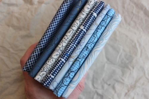 Mini Cloth stack Carolyn Friedlander CF still waters