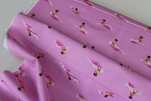 Heather Ross Malibu -Tiny Surfers in pink