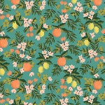 Rifle Paper Co. Menagerie-PRIMAVERA -citrus floral teal