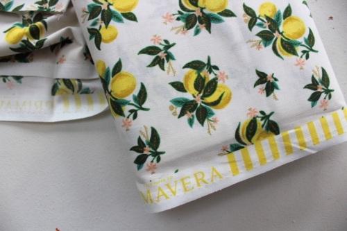 Rifle Paper Co. Menagerie-PRIMAVERA -citrus blossom - LEMON metallic