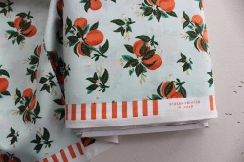 Rifle Paper Co. Menagerie-PRIMAVERA -citrus blossom - ORANGE metallic