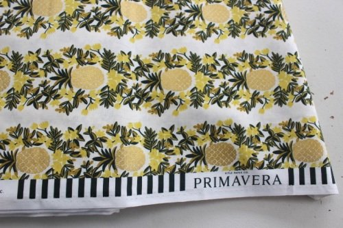 Rifle Paper Co. Menagerie-PRIMAVERA -pineapple stripe -CREAM metallic