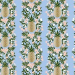Rifle Paper Co. Menagerie-PRIMAVERA -pineapple stripe -PERIWINKLE- metallic