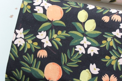 Rifle Paper co. Primavera - citrus Floral - BLACK CANVAS