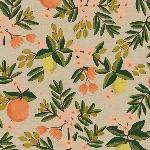 Rifle Paper co. Primavera - citrus Floral - SAND - CANVAS