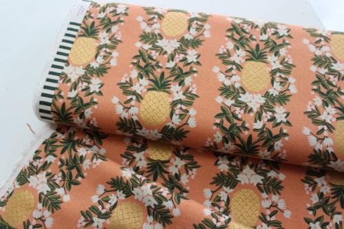 Rifle Paper co. Primavera - Pineapple Stripe PEACH- CANVAS