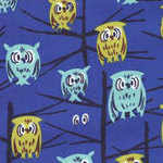 Tammis Keefe Owls in tree on midnight blue