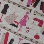 Kokka pink lady out shopping