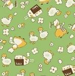 Windham Fabrics storybook V111 green farmyard