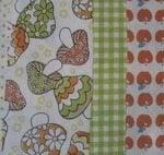 Kokka -Flower/ toadstool patchwork in line