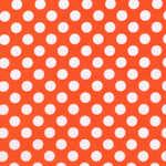 Michael Miller Peace 1cm tangerine Ta Dot