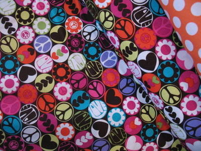 Michael Miller cocoa peace buttons