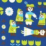 Kokka Snow white fairytale on blue