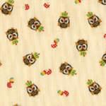 Kokka grumpy owl on cream