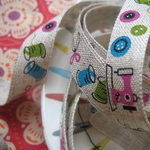 Kokka Linen tape Cute Sewing