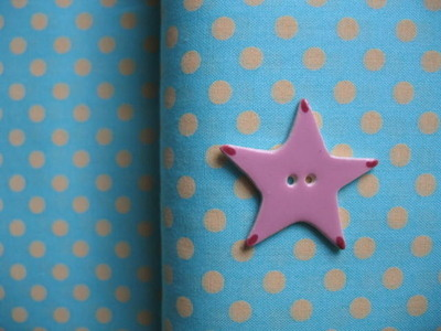 Lecien 6mm blue & lemon  dot