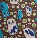 Kokka Quirky owls in blue and white