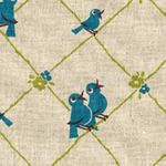 Kokka chirpy birds on a wire in blue