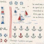 Kokka 'Ship ahoy' marine DOUBLE GAUZE