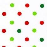 Robert Kaufman green & red 9mm spot