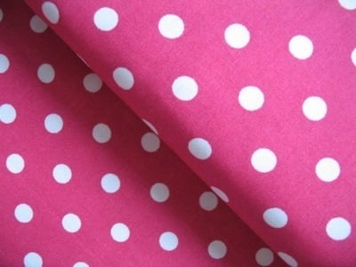 Robert Kaufman 8mm hot pink spot