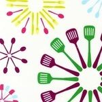 Marie Perkins Happy Home kitchen utensils on white