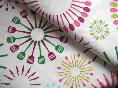 Marie Perkins Happy Home kitchen utensils on white