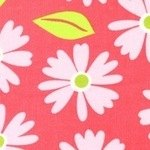 Anne Kelle Izzy Daisy on Pink cool CORD
