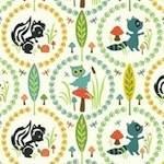 Riley Blake woodland tales owl in cream