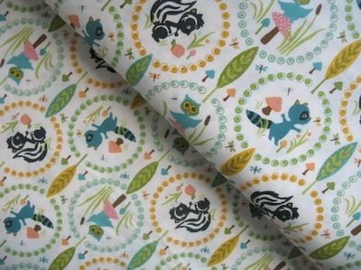 Riley Blake woodland tales owl in cream