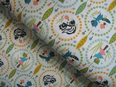 Riley Blake woodland tales owl in light blue