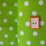 Robert Kaufman 8mm lime green spot