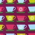 Marie Perkins Happy Home retro  cups in purple
